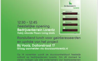 Bedrijventerrein Lorentz op goede weg naar Energieneutraal bedrijventerrein