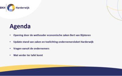 Online bijeenkomst Bedrijvenkring Harderwijk en gemeente Harderwijk