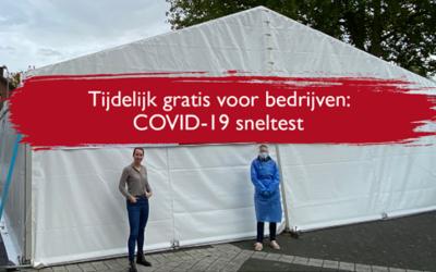 Tijdelijk gratis COVID-19 Sneltest voor Harderwijker bedrijven